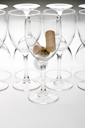 Wine Glasses  stock photo, Wine Glasses with a graduated background by Vince Clements