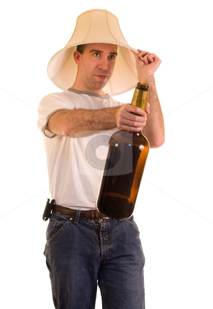 Binge stock photo, A young man on a drinking binge by Richard Nelson