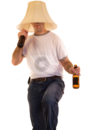 Dancing Man stock photo, A person drinking alcohol dancing to some music by Richard Nelson