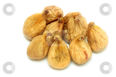 Dried figs stock photo, Dried figs isolated over white by Natalia Macheda