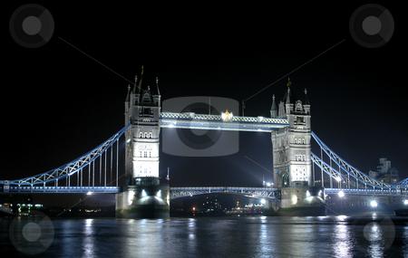 Tower Bridge stock photo, The tower bridge in london at night by Kobby Dagan