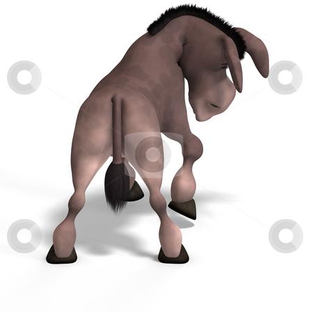 Very cute toon donkey
