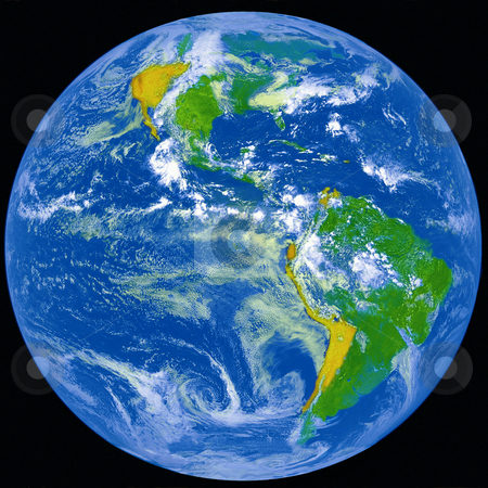 Earth from outer space. stock photo, NASA image of Earth from outer space. by Iofoto Images