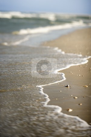 Waves coming onto shore. stock photo, Waves coming onto shore. by Iofoto Images
