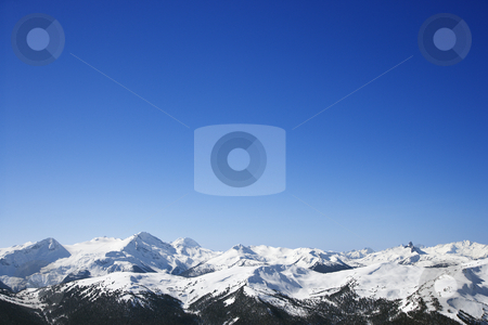 Scenic snow covered mountains.  stock photo, Scenic snow-covered mountains. by Iofoto Images