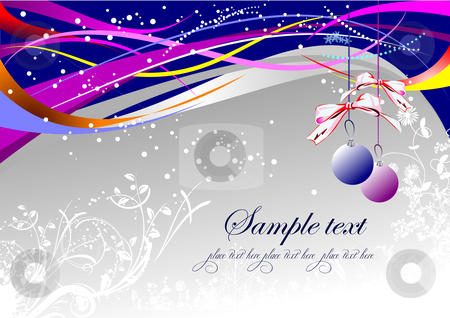 Greeting card stock vector clipart, Greeting card for Christmas and happy New Year by Leonid Dorfman