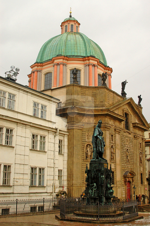 Church stock photo, A church at the old city of prague by Kobby Dagan