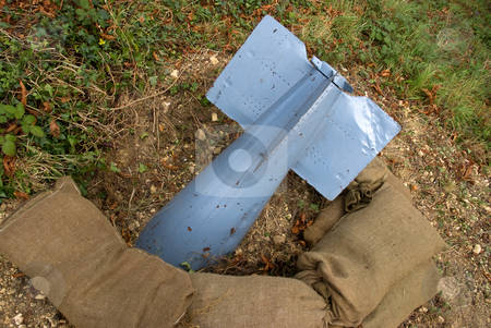Unexploded stock photo, A mock bomb of the type used during the second world war by Paul Phillips