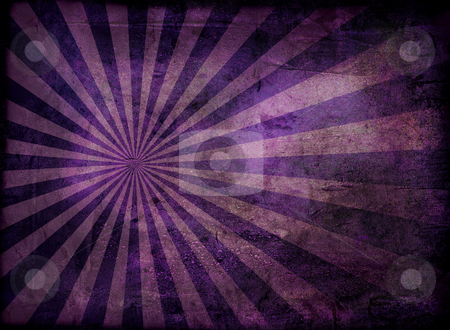 Grunge radiate purple stock photo, Radiating grunge background in purple and with a weathered effect by Michael Travers