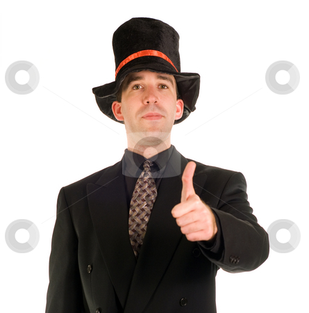 Thumbs Up stock photo, A young scrooge giving a thumbs up gesture by Richard Nelson