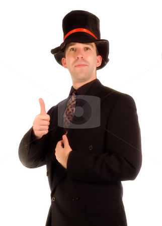 Positive Scrooge stock photo, A young scrooge being positive and giving a thumbs up by Richard Nelson
