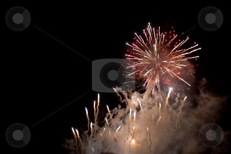 Australia day fireworks stock photo, A spectacular fireworks display to celebrate australia day by Stephen Gibson