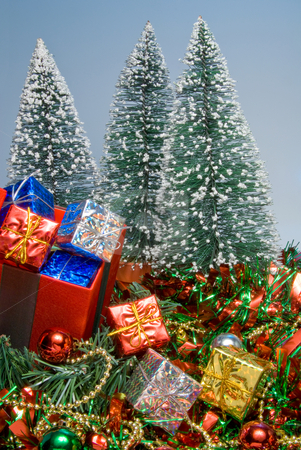 Christmas Presents stock photo, Seasonal presents given during the Christmas season. by Robert Byron