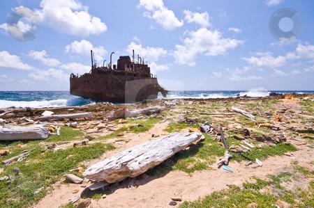 Rubbish rusty wreck