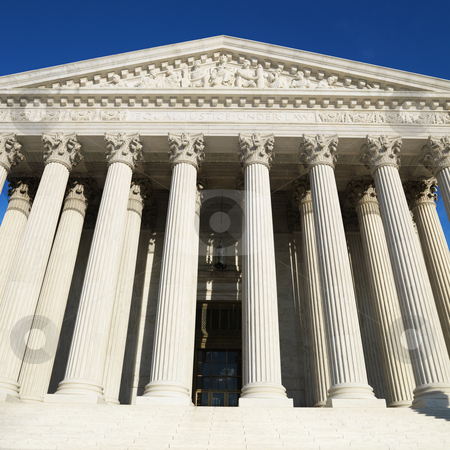 Supreme Court Building. stock photo, Supreme Court Building, Washington, DC, USA. by Iofoto Images