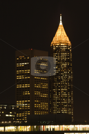 Nightscape of Atlanta. stock photo, Nightscape of Atlanta, Georgia skyline. by Iofoto Images
