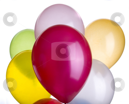 Ballons Vibrant Closeup stock photo, Balloons in a vibrant color closeup of seven by John McLaird