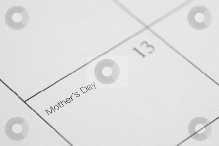Mothers Day. stock photo, Close up of calendar displaying Mothers Day. by Iofoto Images