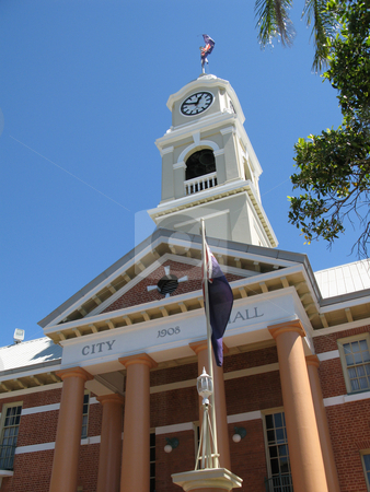 Maryborough cityhall stock photo, City hall and clock tower, a maryborough landmark by Stephen Gibson