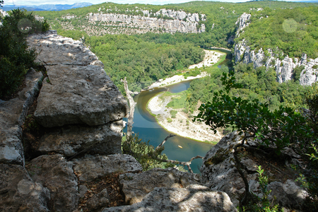 Cliffs in Chassezac, Ardeche Valley, Southern France