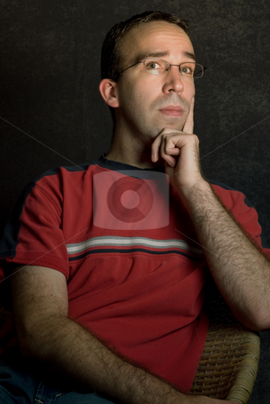 Young Man stock photo, A young sophisticated looking male wearing casual clothing by Richard Nelson