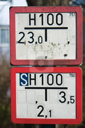 Hinweisschild stock photo, Hinweisschild by Wolfgang Heidasch