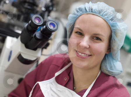 Portrait of embryologist stock photo, Portrait of embryologist in laboratory by Monkey Business Images