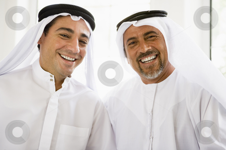 Portrait of two Middle Eastern men stock photo,  by Monkey Business Images