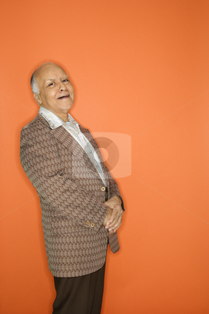 Man in retro suit. stock photo, Caucasian adult mature male in retro suit. by Iofoto Images