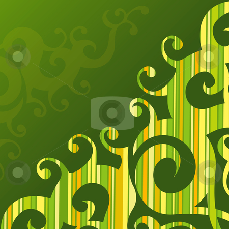 Swirly Striped Background stock vector clipart, Swirly Striped Background by Adrian Sawvel