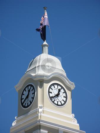 Cityhall clock stock photo, Close up on the cityhall clock tower, maryborough, QLD by Stephen Gibson