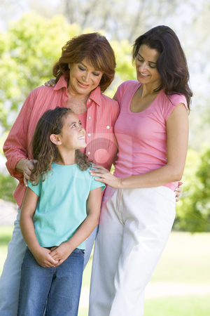 Grandmother with adult daughter and grandchild stock photo,  by Monkey Business Images