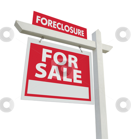 Foreclosure For Sale Real Estate Sign stock photo, Foreclosure For Sale Real Estate Sign Isolated on a White Background. by Andy Dean