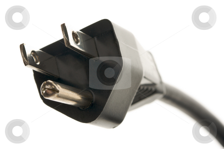 Electric Power Cable stock photo, Electric Power Cable Isolated on a White Background by Andy Dean