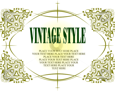 Vintage frame stock vector clipart, Vintage frame vector illustration by Leonid Dorfman