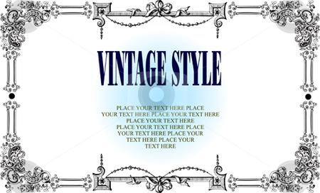 Vintage frame stock vector clipart, Vintage frame vestor illustration by Leonid Dorfman