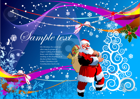 Greeting card for Christmas stock vector clipart, Greeting card for Christmas and happy New Year by Leonid Dorfman