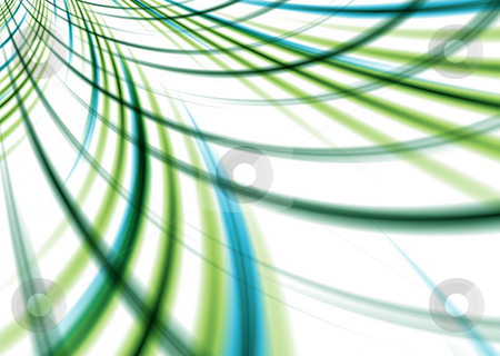 Green speed stock photo, Abstract woven background with intersecting lines in green and blue by Michael Travers