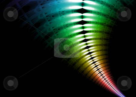 Xray rainbow stock photo, Abstract rainbow effect spreading out from the distance by Michael Travers