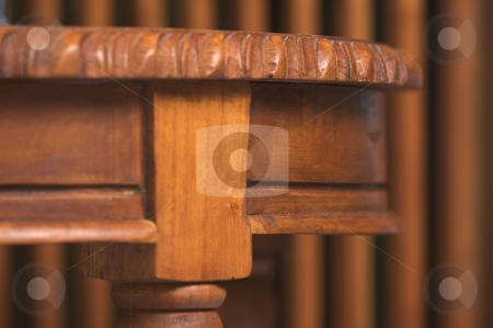Wood Table Detail stock photo, Wood Table Detail Abstract Image by Andy Dean