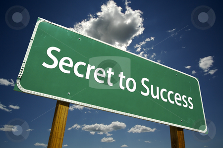 Secret to Success Road Sign stock photo, Secret to Success Road Sign with dramatic clouds and sky. by Andy Dean