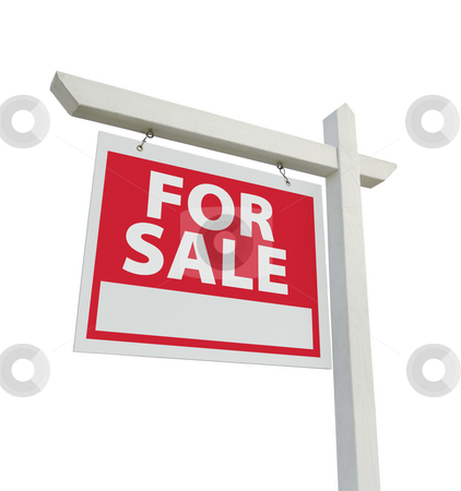 For Sale Real Estate Sign  stock photo, For Sale Real Estate Sign Isolated on a White Background. by Andy Dean
