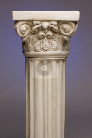 Ancient Column Pillar Replica stock photo, Ancient Column Pillar Replica on a Blue Gradation Background. by Andy Dean