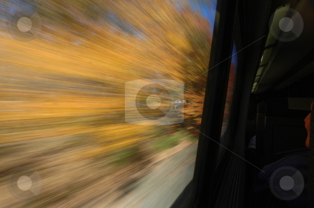 High Speed view from train stock photo,  by Richard Sheehan