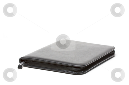 Black Business Folder stock photo, Black Business Folder Isolated on White Background by Andy Dean