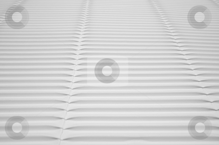White Corrugated Cardboard stock photo, White Corrugated Cardboard Detail Macro by Andy Dean