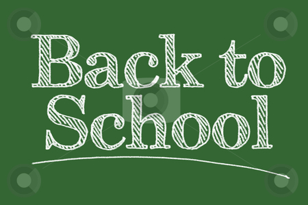 Back To School Chalk Board stock photo, Back To School Illustrated on a Chalk Board. by Andy Dean
