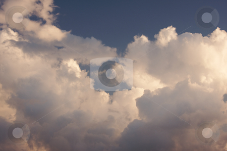 Clouds at Dawn stock photo, Clouds at Dawn off the coast of Kauai, Hawaii by Andy Dean