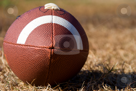 Football stock photo, An American football ready for sports action. by Robert Byron