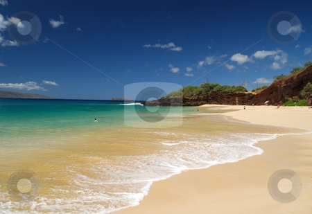 Utopia stock photo, North end of Big Beach in Maui, Hawaii. by Steven Kapinos